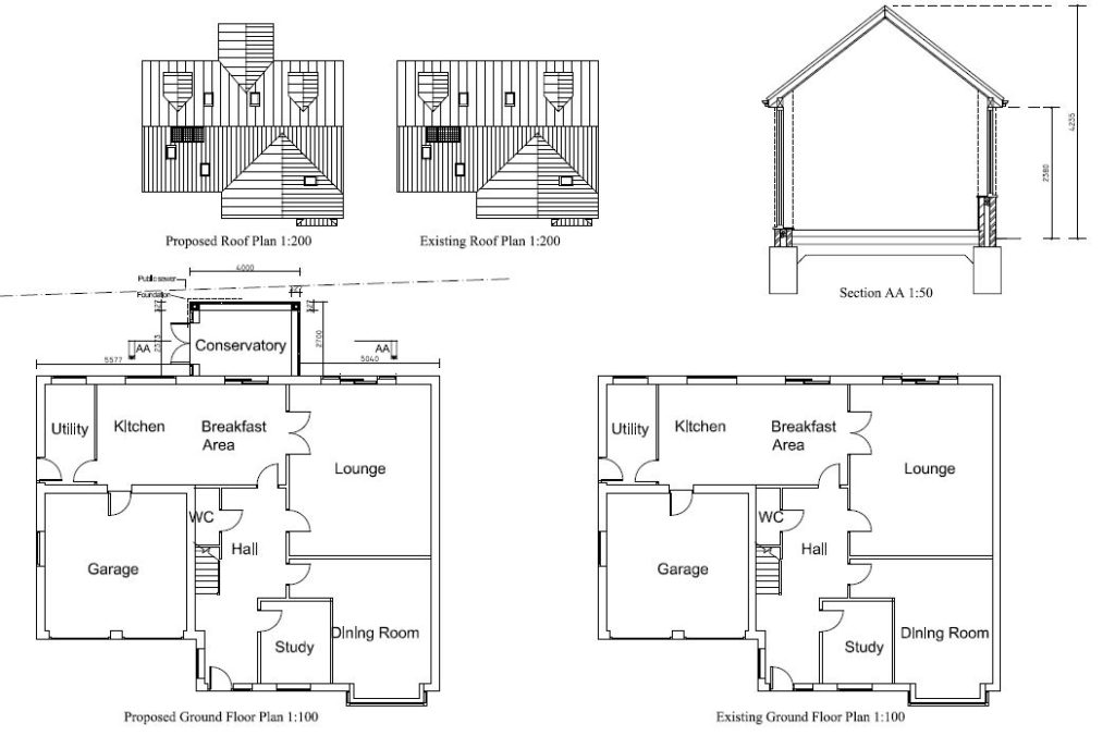 Architectural Plans for an extension