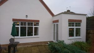 Orangery with a large lantern light in the roof